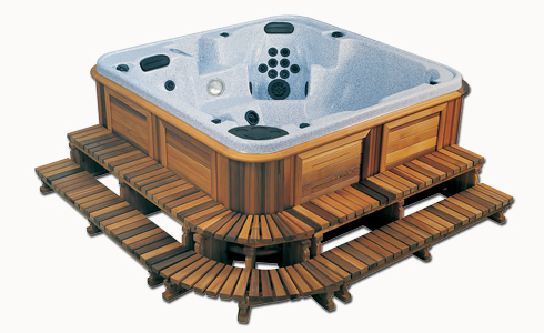 2 tier hot tub step pack